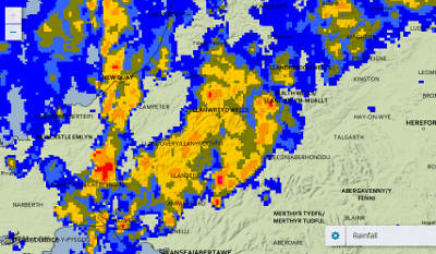 At last!! The Met Office's rainfall radar this morning showing something we haven't seen for some time.