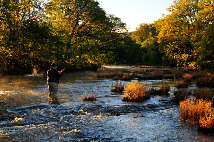 Autumn grayling fishing on the Irfon at Cefnllysgwynne. Photo: Dougal Ziegler