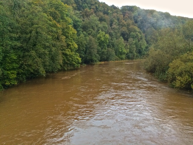 The first of the Wye's October spates