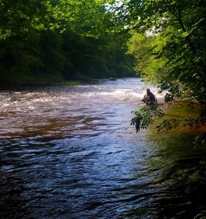 August salmon fishing at Fenni Fach on the upper Usk