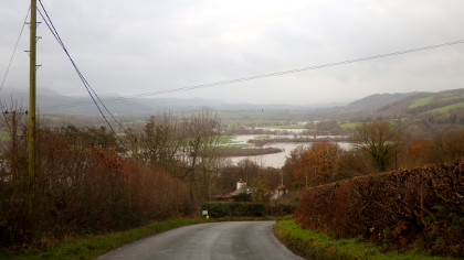 The Wye valley near Hay at the end of November