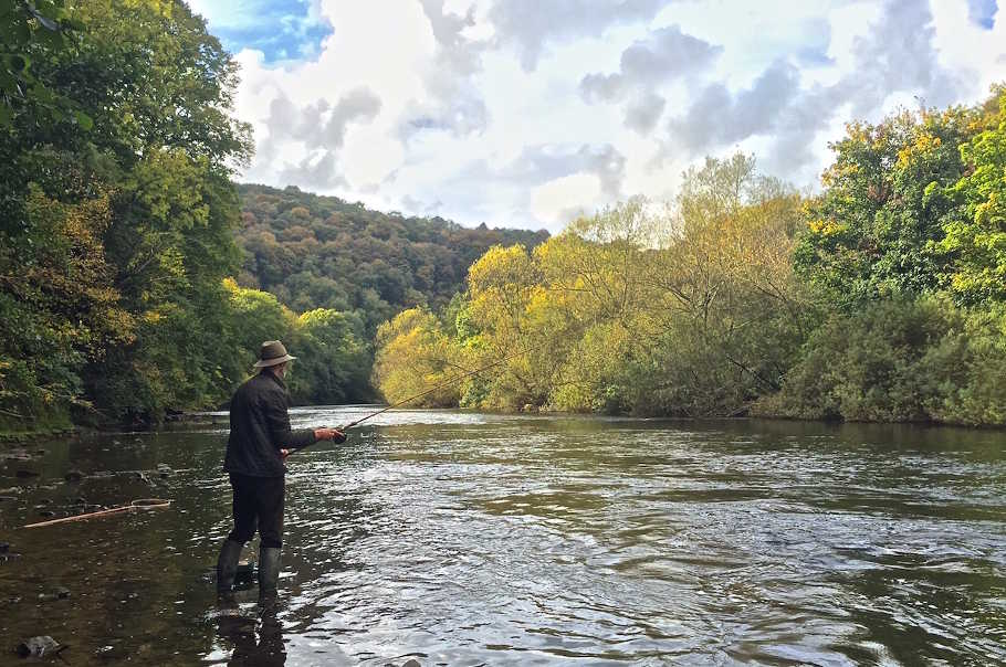 Moving baits have worked well for Wye barbel in October, especially trotted maggots.