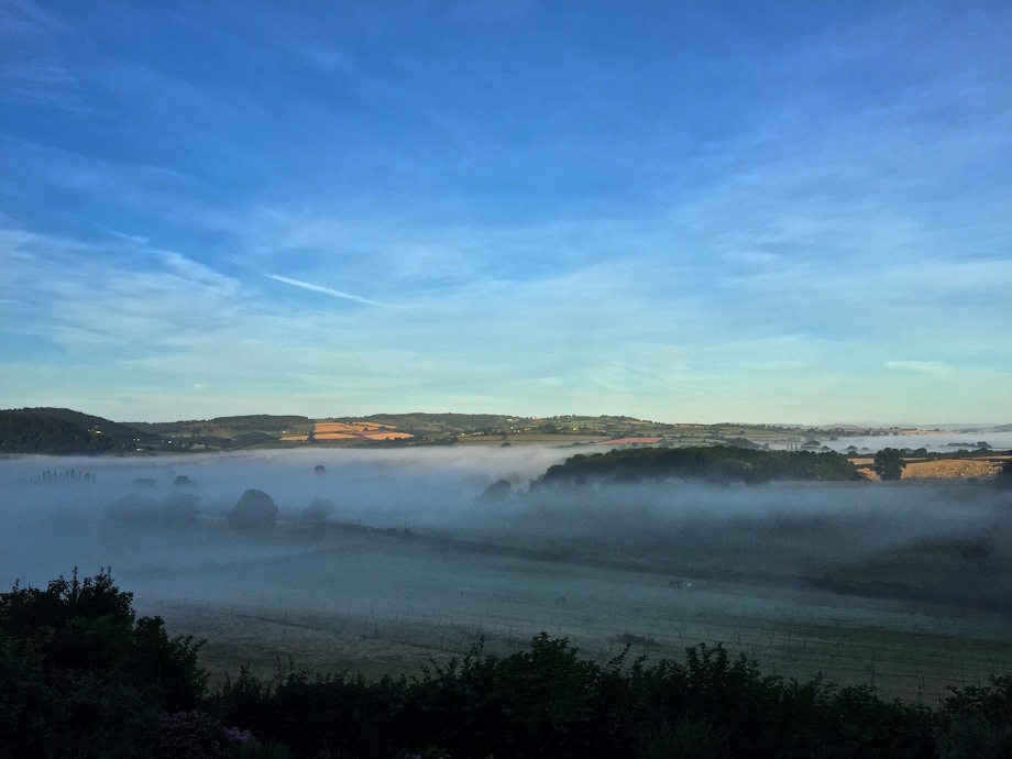 Misty mornings in the Wye Valley - September is here!