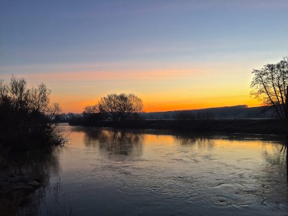A February dawn on the river Wye