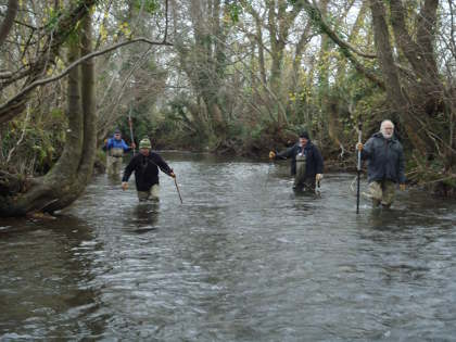 The Wild Stream volunteers have struggled to get out this winter