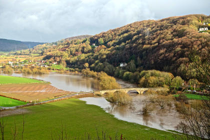The Wye bursting its banks at Kerne Bridge in January - an all too familiar sight this winter