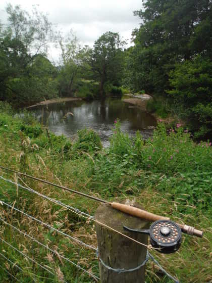 8ft rod about to be used on the upper Monnow