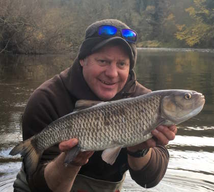 Chub fishing picked up for a short time in November