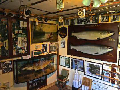The rod room of the Royalty Fishery on the Hampshire Avon