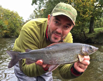 One of several superb grayling Adam had from his annual autumn pilgrimage to the upper Wye